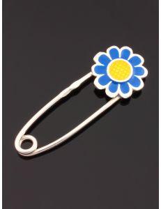 Шпилька Квіточка синя