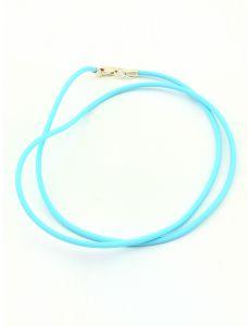 Каучуковий шнурок блакитний