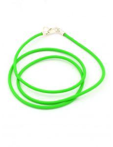 Каучуковий шнурок зелений
