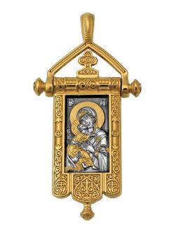 Образок Володимирська ікона Божої Матері. Розквітлий хрест