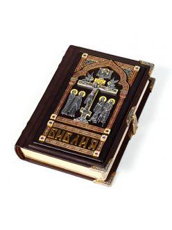 Срібна Біблія маленька (з емалями)
