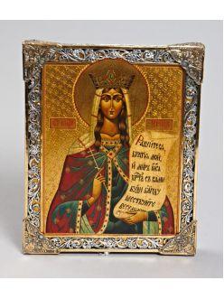 Срібна Ікона Свята Княгиня Ірина