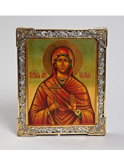 Срібна Ікона Свята мучениця Юлія