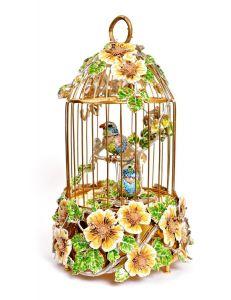 Композиція з співаючими пташками з золота і срібла