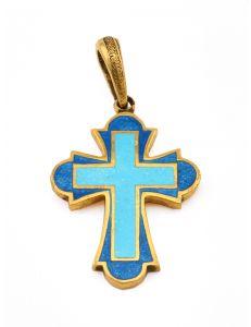 Хрест з емаллю Молитва Спаси і Збережи