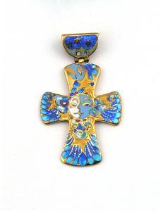 Хрест з емаллю День і Ніч