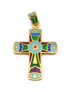 Хрест з емаллю Сонце