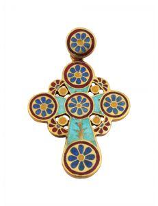 Хрест з емаллю Квітковий