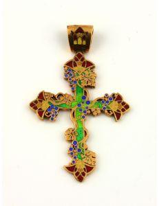 Хрест з емаллю Виноградна лоза
