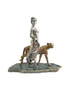 Статуэтка Дівчина з гепардом