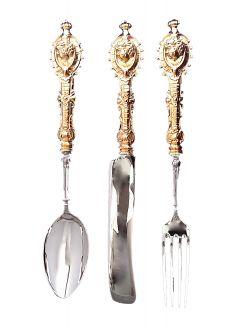 Набір срібних столових приборів 1582