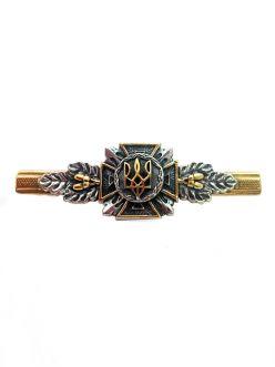 Срібний Затиск для краватки Герб України