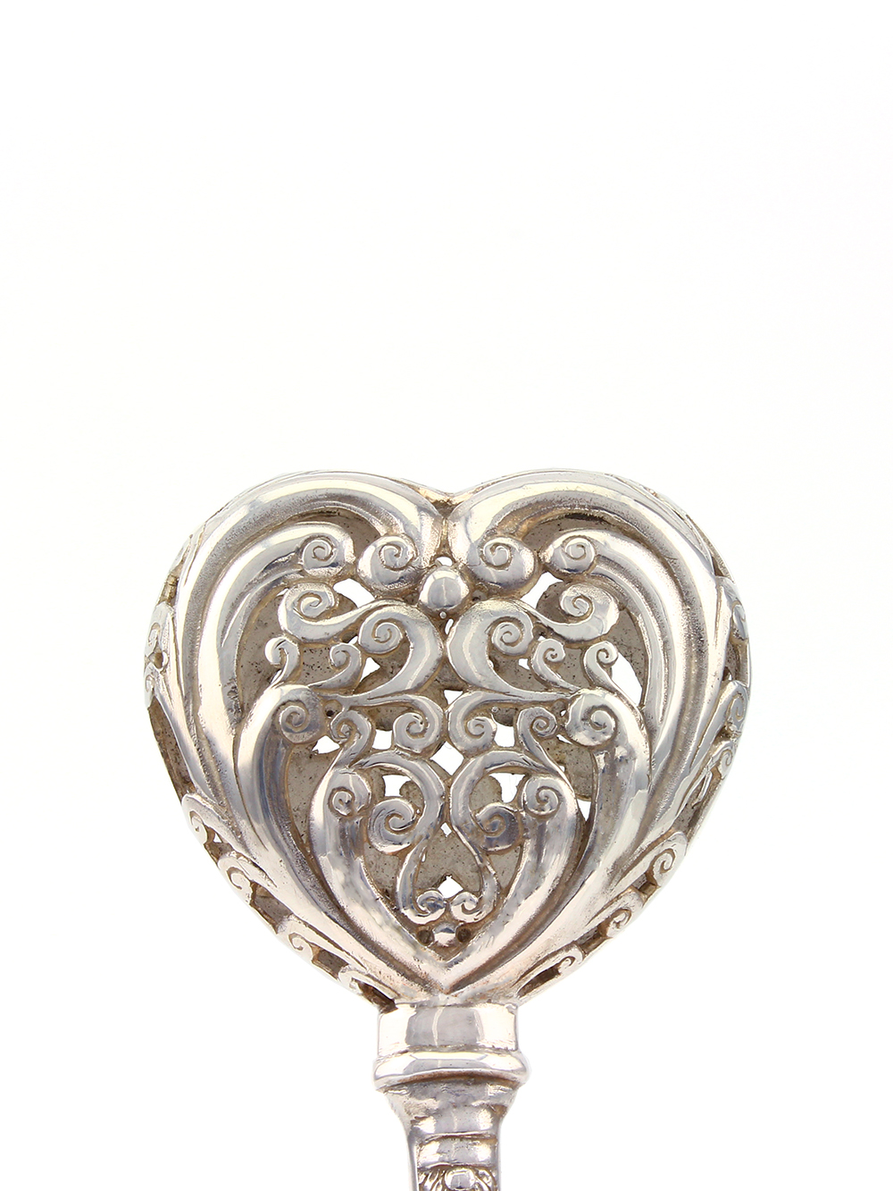 Silver Rattle Quot Heart Quot Ebay